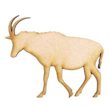 3mm MDF Wood Laser Cut Craft Shapes - Male Antelope